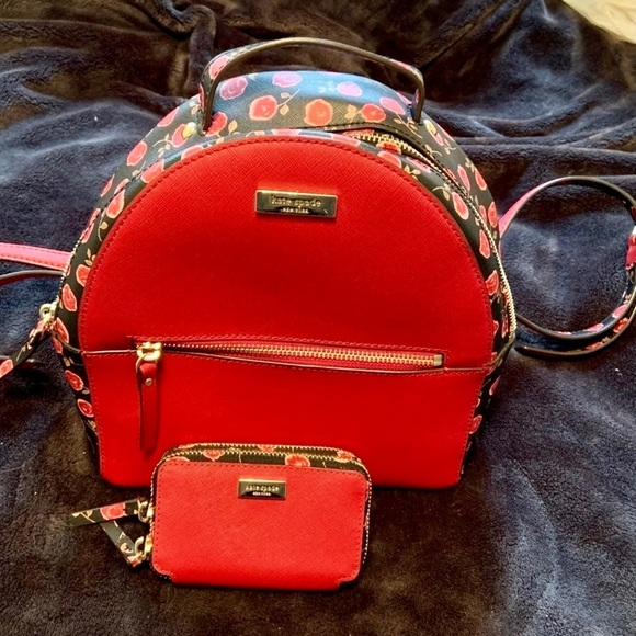 Kate Spade Mini Backpack and Wallet Combo